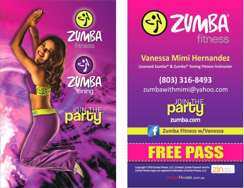 Business Card of the Month - Zumba® Vanessa Mimi Hernandez ...