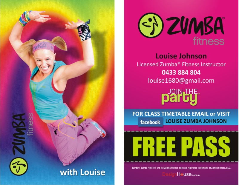Zumba Business Cards Images - Card Design And Card Template