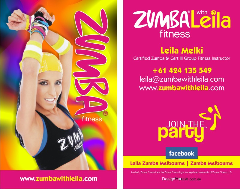Zumba Instructor Business Cards Images - Card Design And Card Template