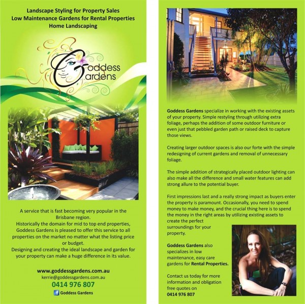 Goddess Gardens: DL Flyer - Brisbane