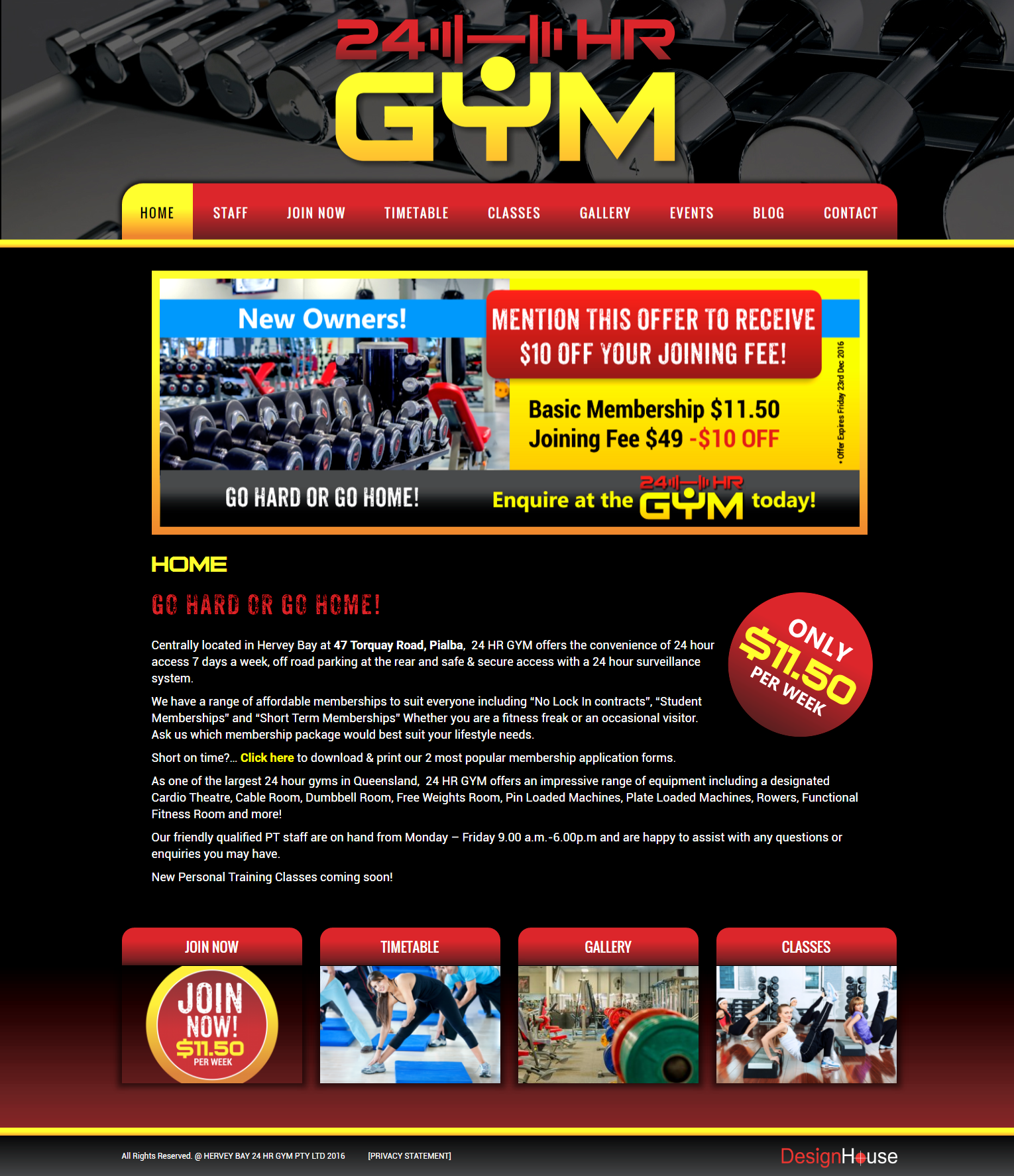 Hervey Bay 24 HR Gym,  Design House, Graphic Design, Print, Website Design, Web, WordPress, Development, Hosting, Business Cards, Logos, Billboards, Social Media, Facebook, Hervey Bay, Fraser Coast, Australia, Sunshine Coast, Noosa, Gympie, Nambour, Brisbane, Maryborough, Queensland, Jeanette Maynes,
