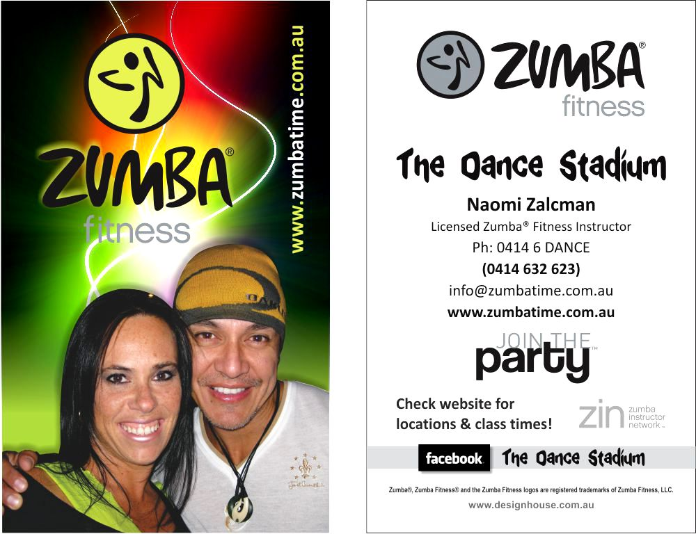 Zin members business cards design housedesign house s ent to print zumba business cards for naomi zalcman 1000 business cards 150 gst reheart Image collections