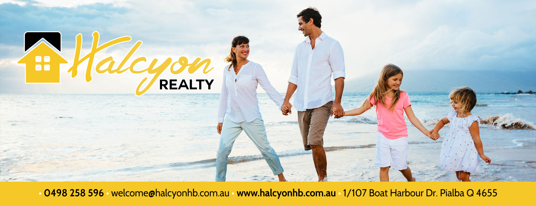 Halcyon Realty Facebook Timeline, Design House, Graphic Design, Print, Printer, Printing, Artwork, Websites, Website Design, Website Development, Hosting, Business Cards, Logos, Billboards, Flyers, Brochures, Vehicle Signage, Signage, Social Media, Facebook, Hervey Bay, Maryborough, Fraser Coast, Queensland, Brisbane, Sunshine Coast