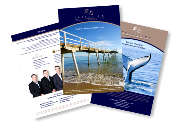 design house brochure design Brochure Design Praescius Financial